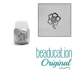 Metal Stamping Tools Hibiscus Flower Metal Design Stamp, 6mm - Beaducation Original