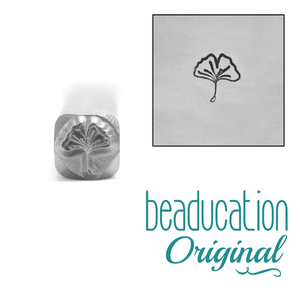 Metal Stamping Tools Ginkgo Leaf Metal Design Stamp, 6mm - Beaducation Original