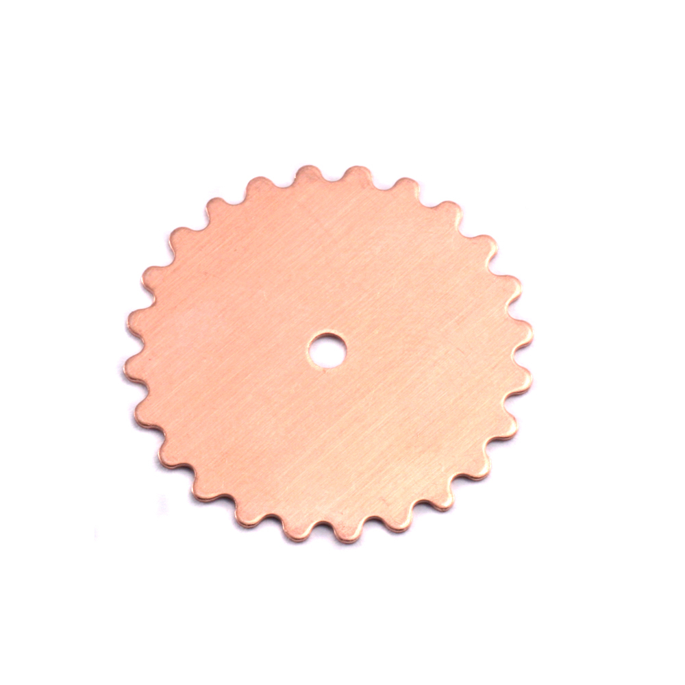 Metal Stamping Blanks Copper Large Solid Cog, 24g