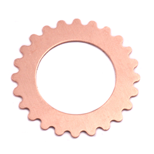 "Metal Stamping Blanks Copper Open Cog, 25mm (1""), 24g"