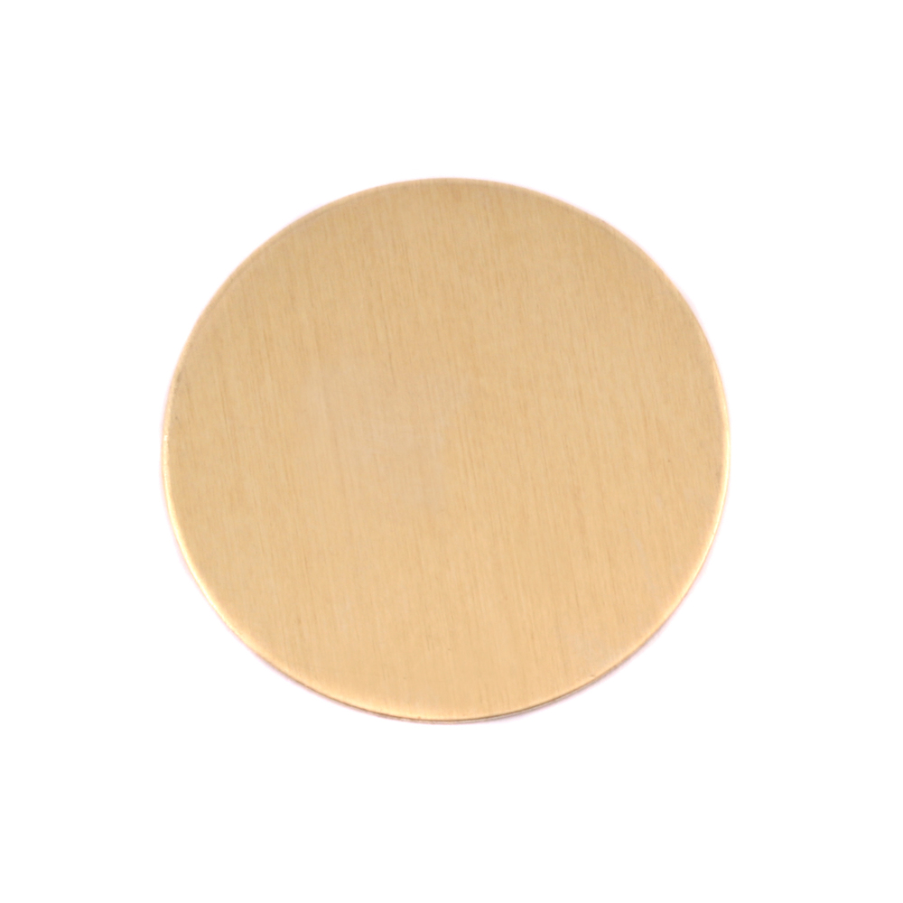 "Metal Stamping Blanks Brass Round, Disc, Circle, 25mm (1""), 24g, Pk of 5"