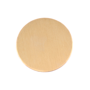 "Metal Stamping Blanks Brass Round, Disc, Circle, 25mm (1""), 24g, Pack of 5"