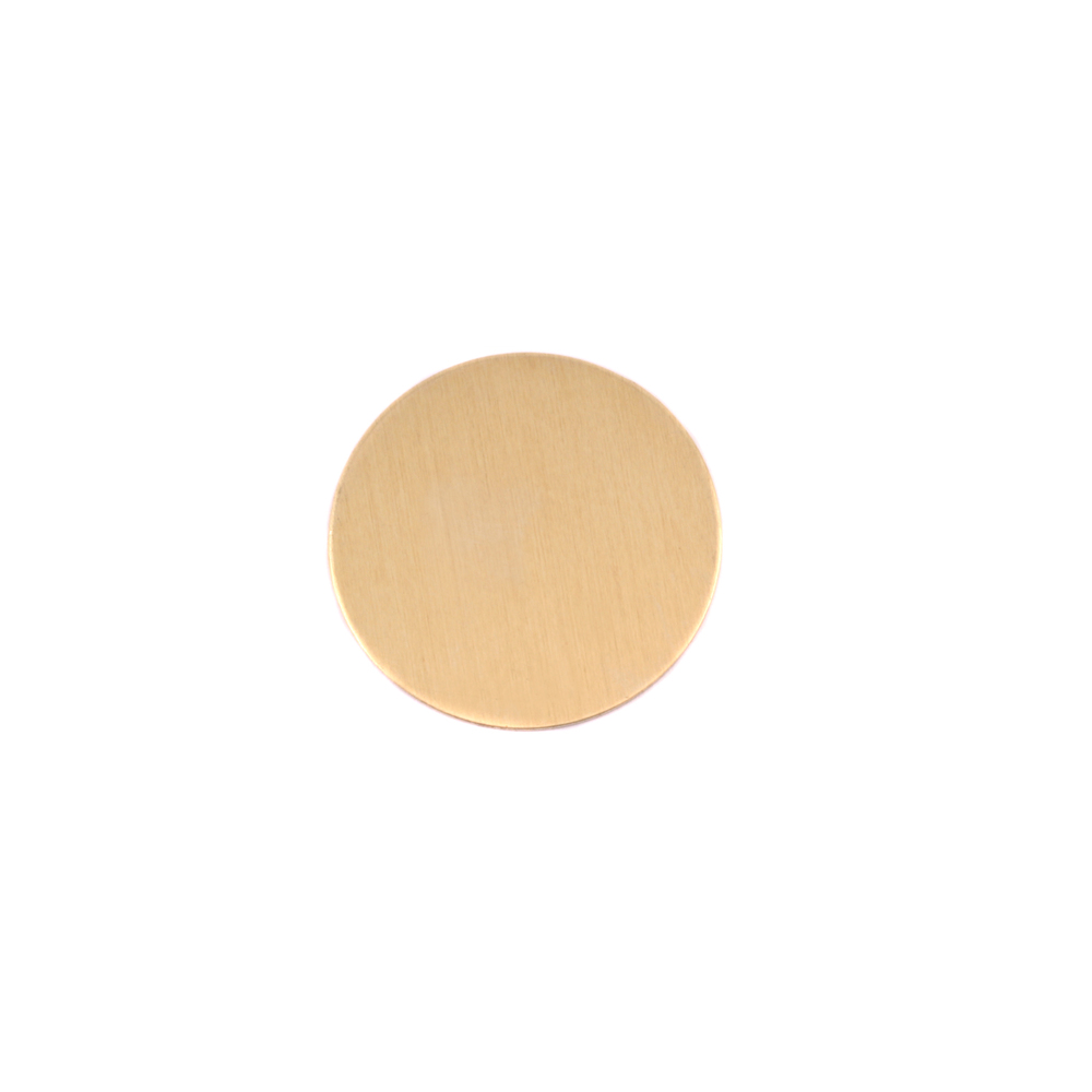 "Metal Stamping Blanks Brass Round, Disc, Circle, 12.7mm (.50""), 24g, Pk of 5"