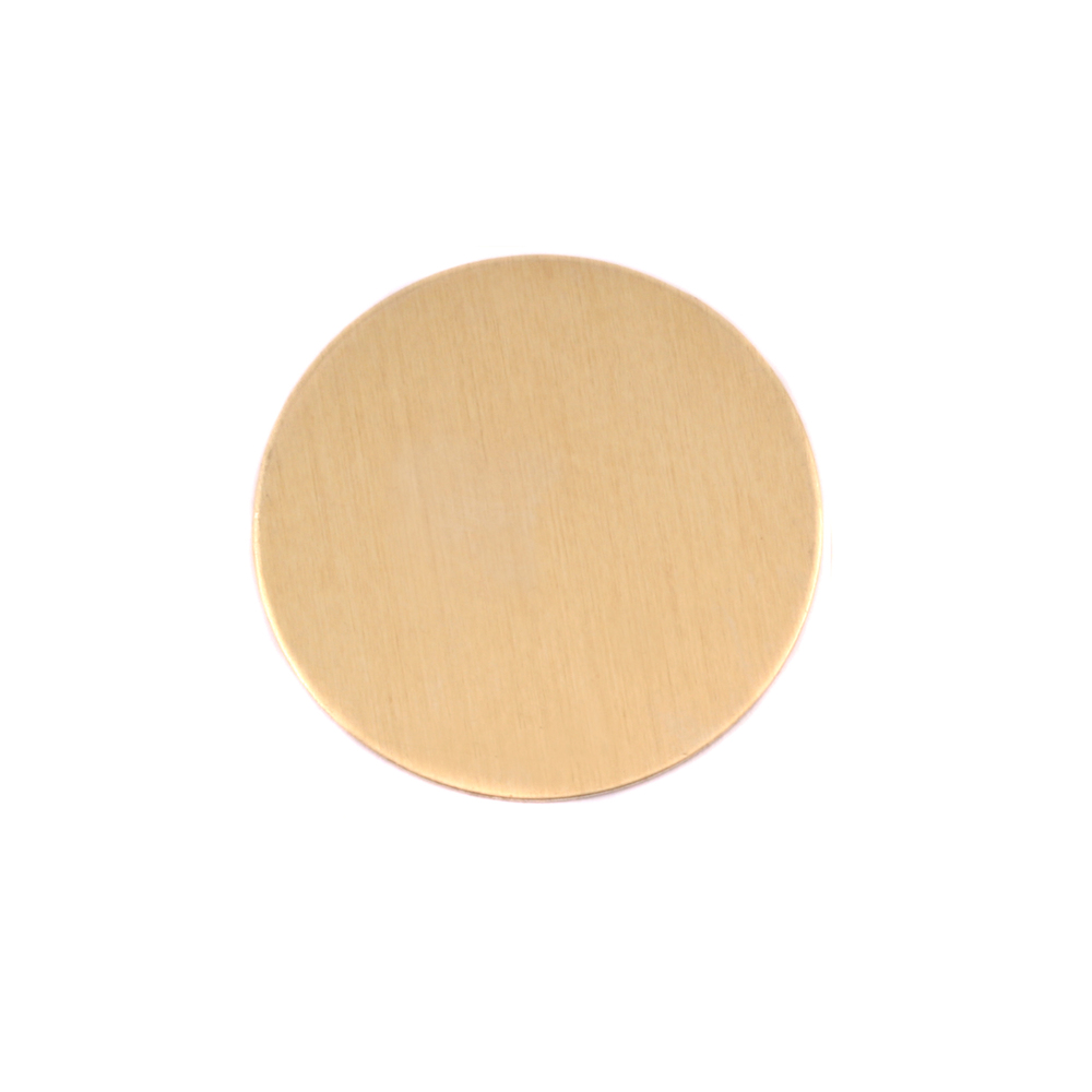 "Metal Stamping Blanks Brass Round, Disc, Circle, 19mm (.75""), 24g, Pack of 5"