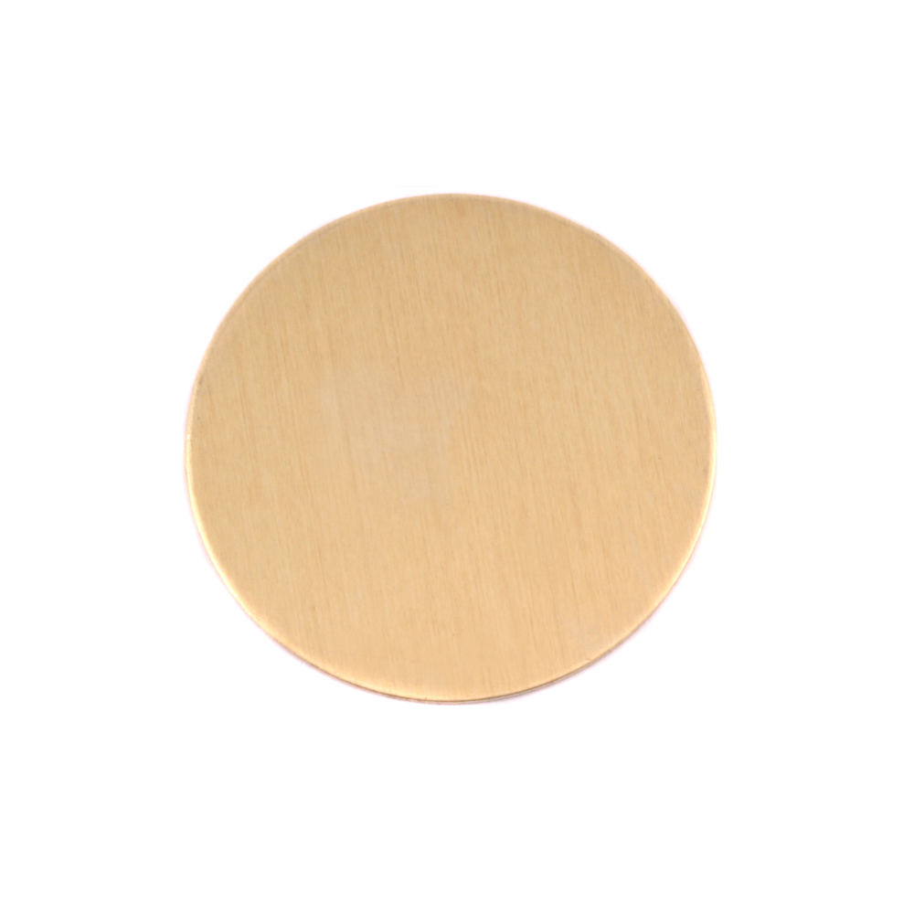 "Metal Stamping Blanks Brass Circle, 22.5mm (.89""), 24g"