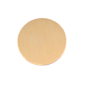 "Metal Stamping Blanks Brass Round, Disc, Circle, 22mm (.87""), 24g, Pack of 5"