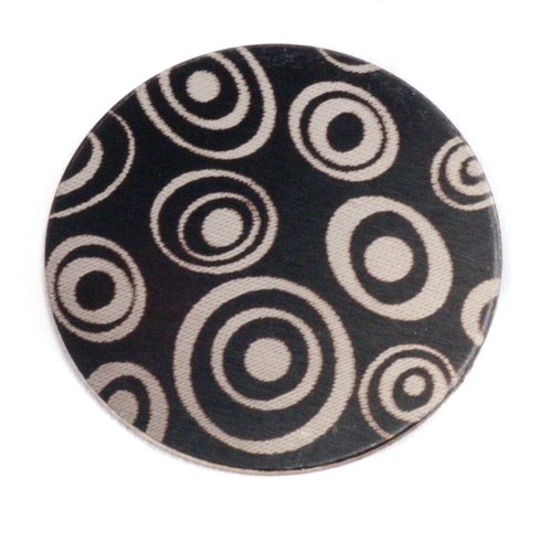 "Dregs Anodized Aluminum 1"" Circle, Black Design #13, 22g"