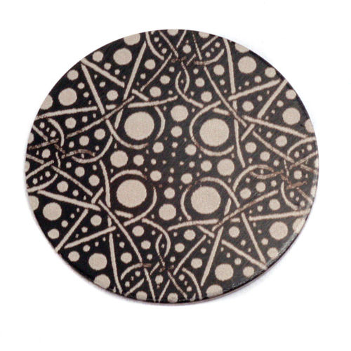 "Metal Stamping Blanks Anodized Aluminum 1"" Circle, Black Design #16, 22g"