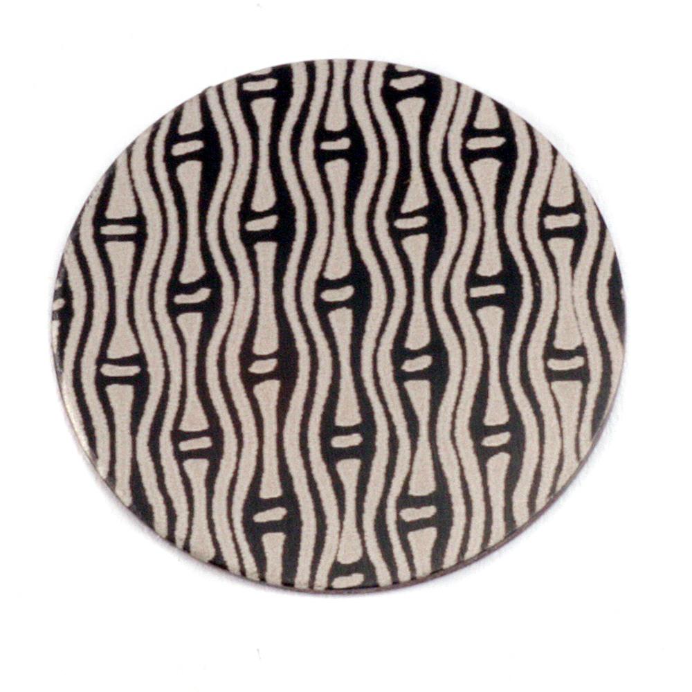 """Anodized Aluminum 1"""" Circle, Black Design #20, 22g"""