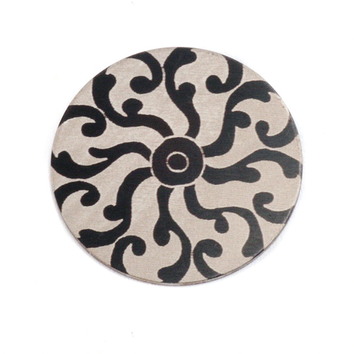 "Dregs Anodized Aluminum 3/4"" Circle, Black Design #8, 22g"