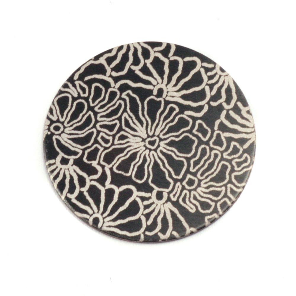 """Anodized Aluminum 3/4"""" Circle, Black Design #5, 22g"""