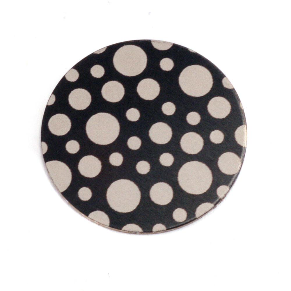 """Anodized Aluminum 3/4"""" Circle, Black Design #12, 22g"""