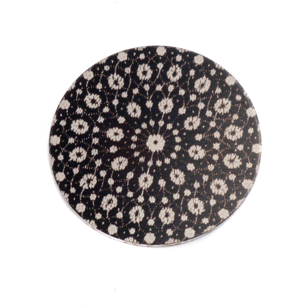 "Anodized Aluminum 3/4"" Circle, Black Design #9, 22g"