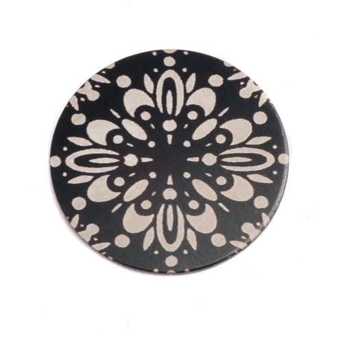 "Dregs Anodized Aluminum 3/4"" Circle, Black Design #10, 22g"