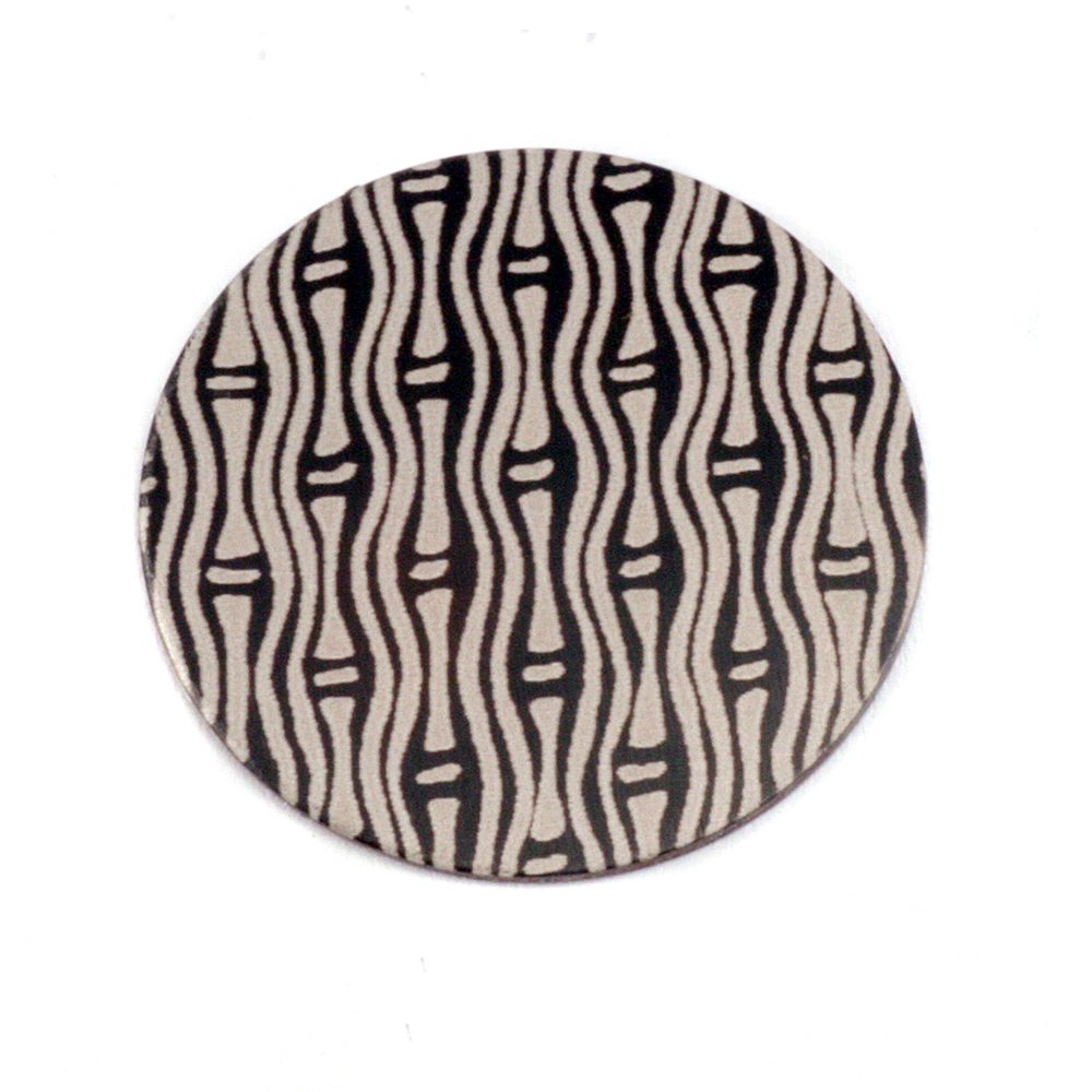 "Metal Stamping Blanks Anodized Aluminum 3/4"" Circle, Black Design #20, 22g"