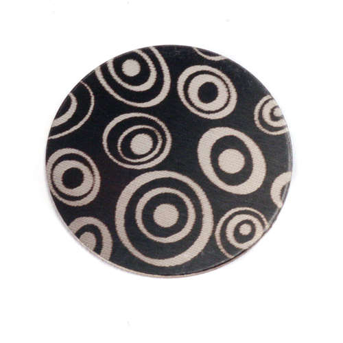 "Dregs Anodized Aluminum 3/4"" Circle, Black Design #13, 22g"