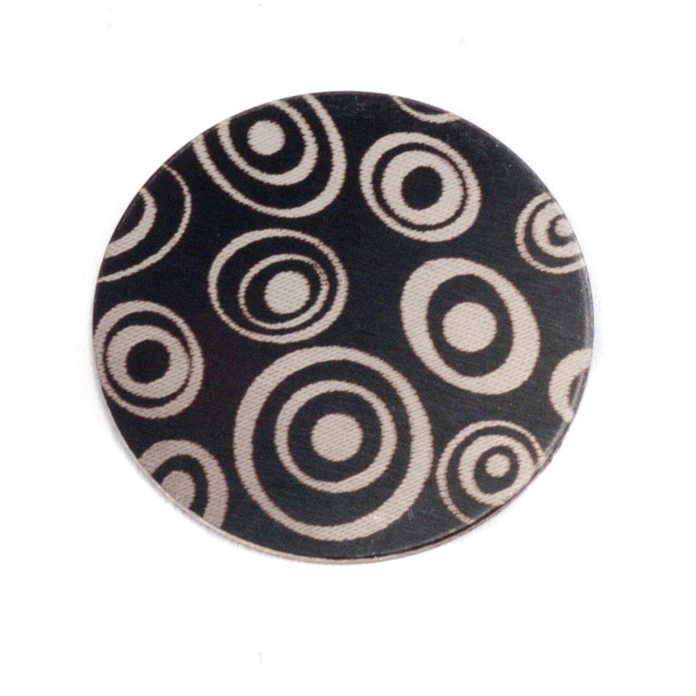 """Anodized Aluminum 3/4"""" Circle, Black Design #13, 22g"""