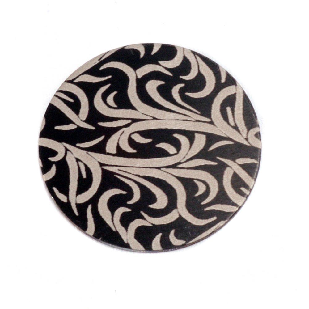 """Anodized Aluminum 3/4"""" Circle, Black Design #15, 22g"""