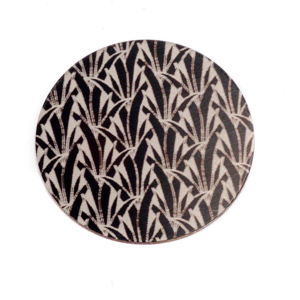 """Anodized Aluminum 3/4"""" Circle, Black Design #19, 22g"""