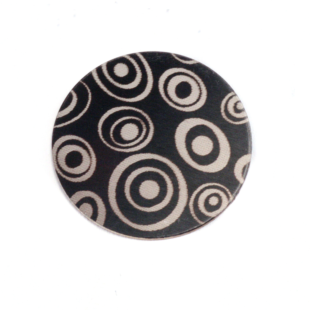 "Anodized Aluminum 5/8"" Circle, Black Design #13, 22g"