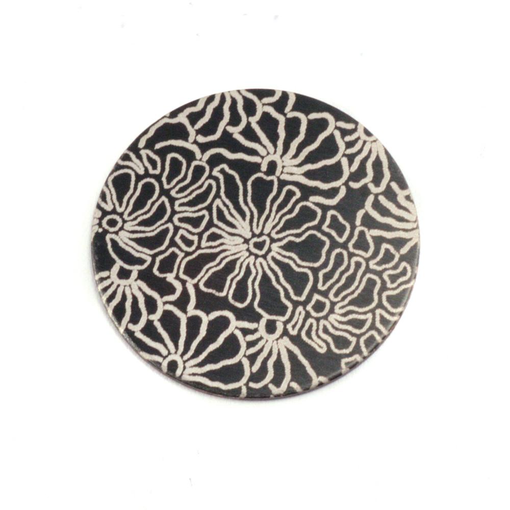 """Anodized Aluminum 5/8"""" Circle, Black Design #5, 22g"""