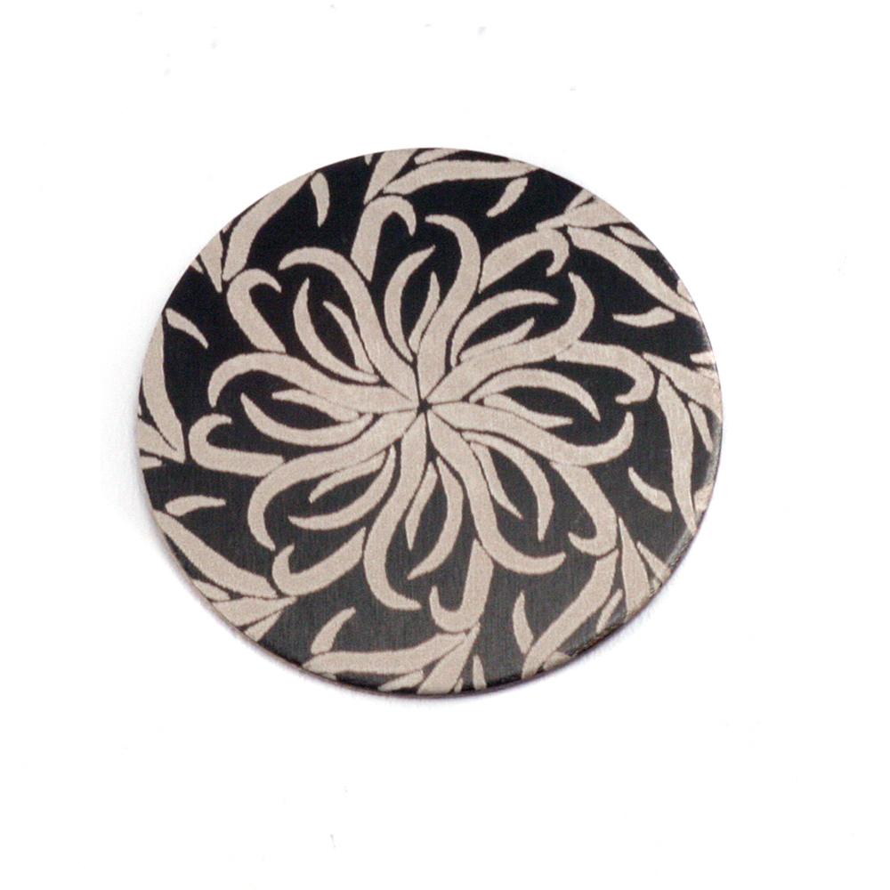 """Anodized Aluminum 5/8"""" Circle, Black Design #14, 22g"""
