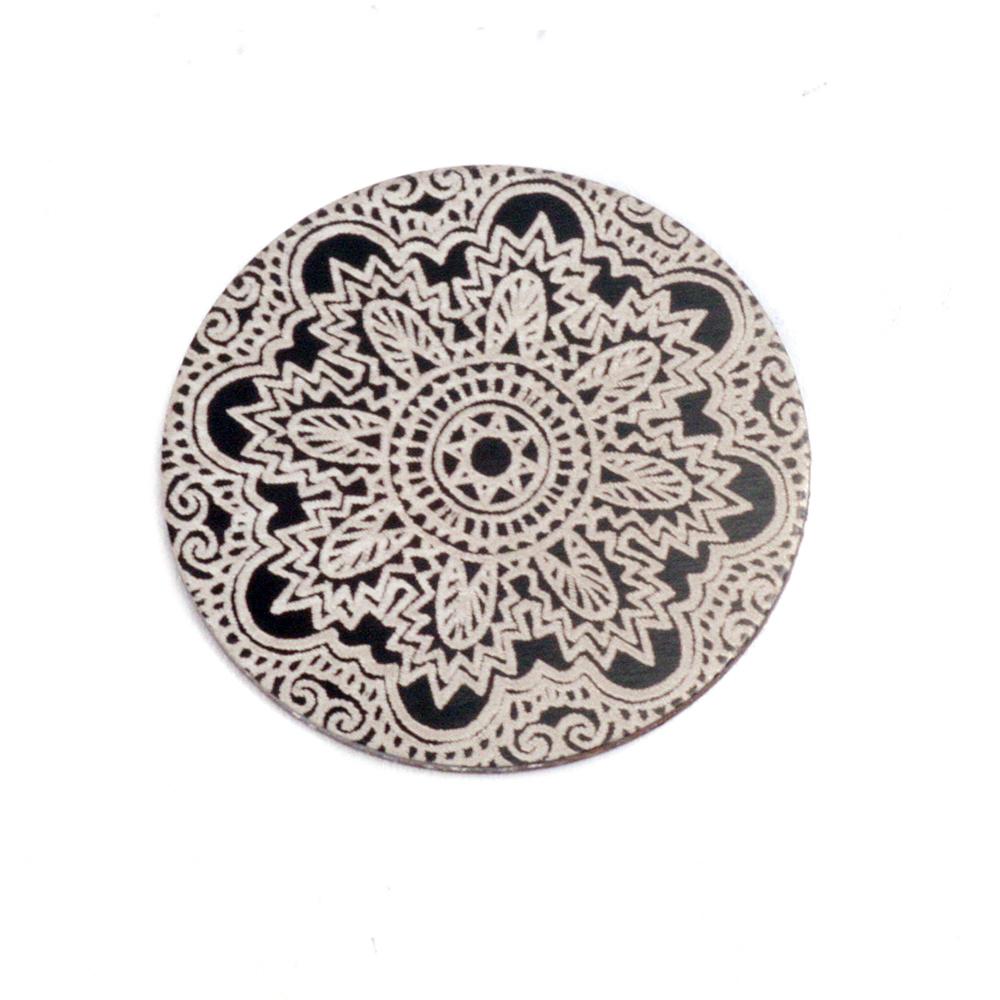 """Anodized Aluminum 5/8"""" Circle, Black Design #17, 22g"""