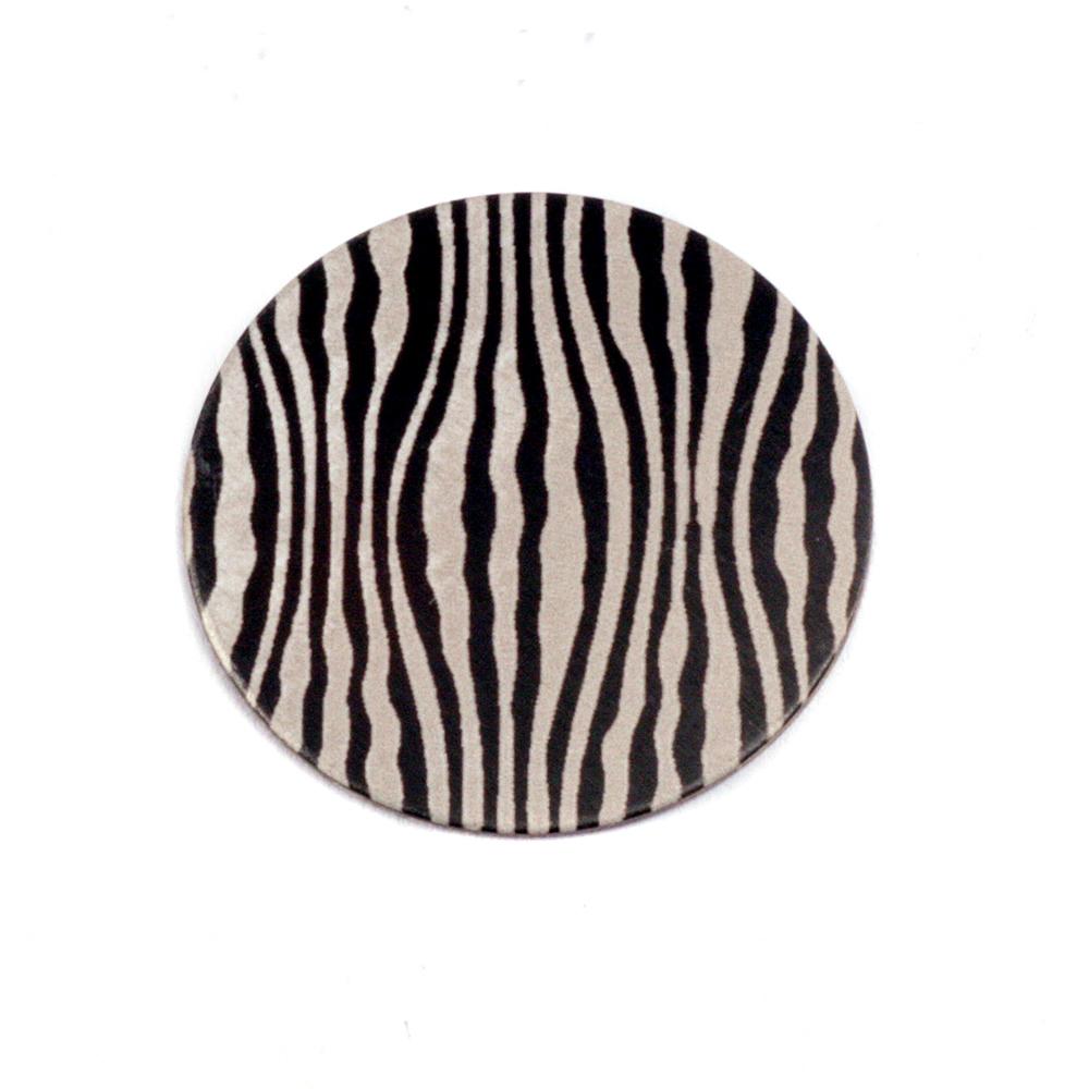 """Anodized Aluminum 5/8"""" Circle, Black Design #18, 22g"""