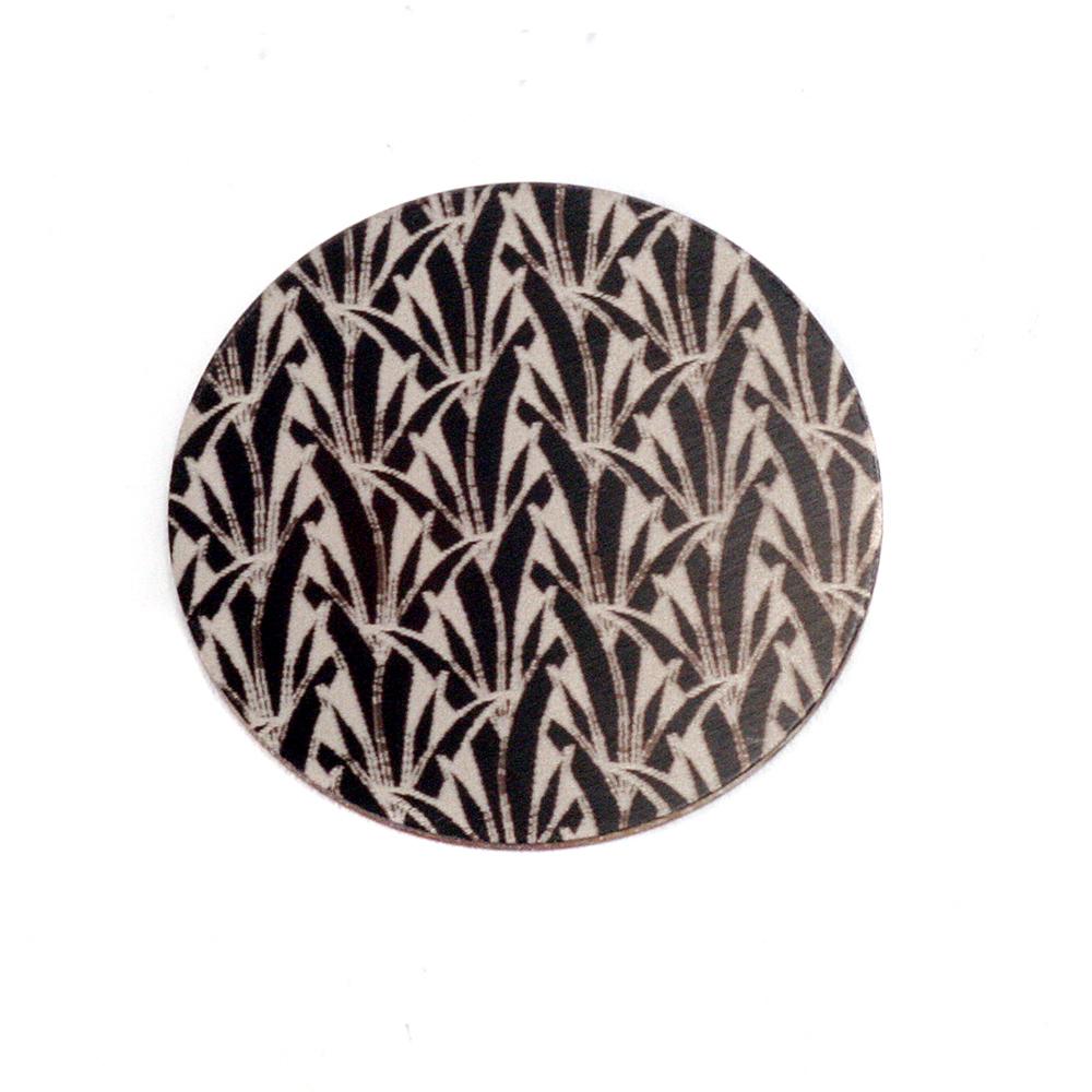 "Metal Stamping Blanks Anodized Aluminum 5/8"" Circle, Black Design #19, 22g"