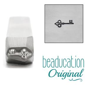 Metal Stamping Tools Ornate Key Metal Design Stamp, 7mm - Beaducation Original