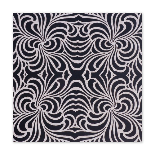 "Dregs Anodized Aluminum Sheet, 3"" X 3"", 22g, Design F - BLACK"