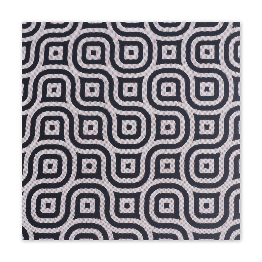 "Anodized Aluminum Sheet, 3"" X 3"", 22g, Design K - BLACK"