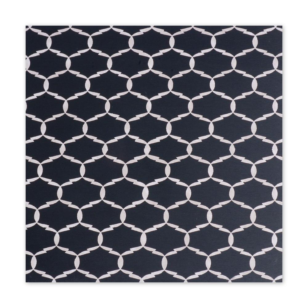 "Anodized Aluminum Sheet, 3"" X 3"", 22g, Design L - BLACK"