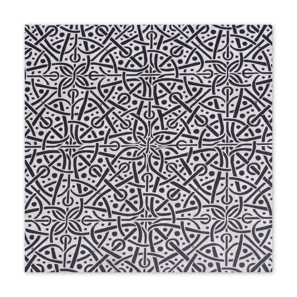 "Anodized Aluminum Sheet, 3"" X 3"", 22g, Design M - BLACK"