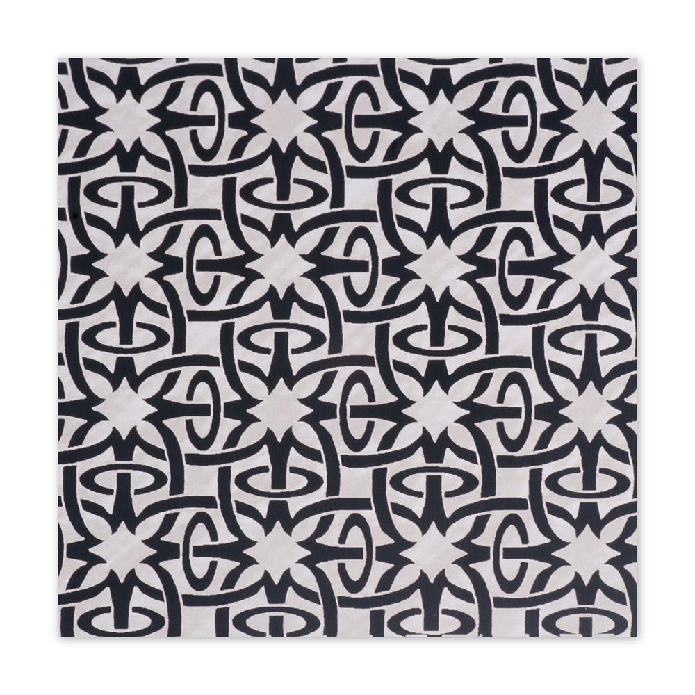 "Anodized Aluminum Sheet, 3"" X 3"", 22g, Design Q - BLACK"
