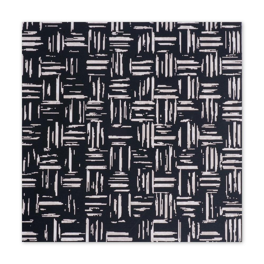 "Anodized Aluminum Sheet, 3"" X 3"", 22g, Design S - BLACK"