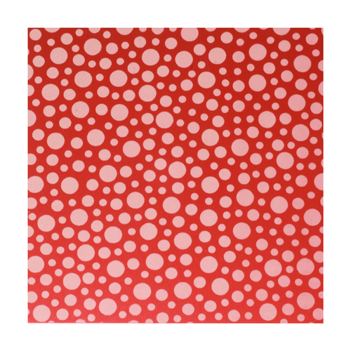 "Dregs Anodized Aluminum Sheet, 3"" X 3"", 22g, Design T - Red"