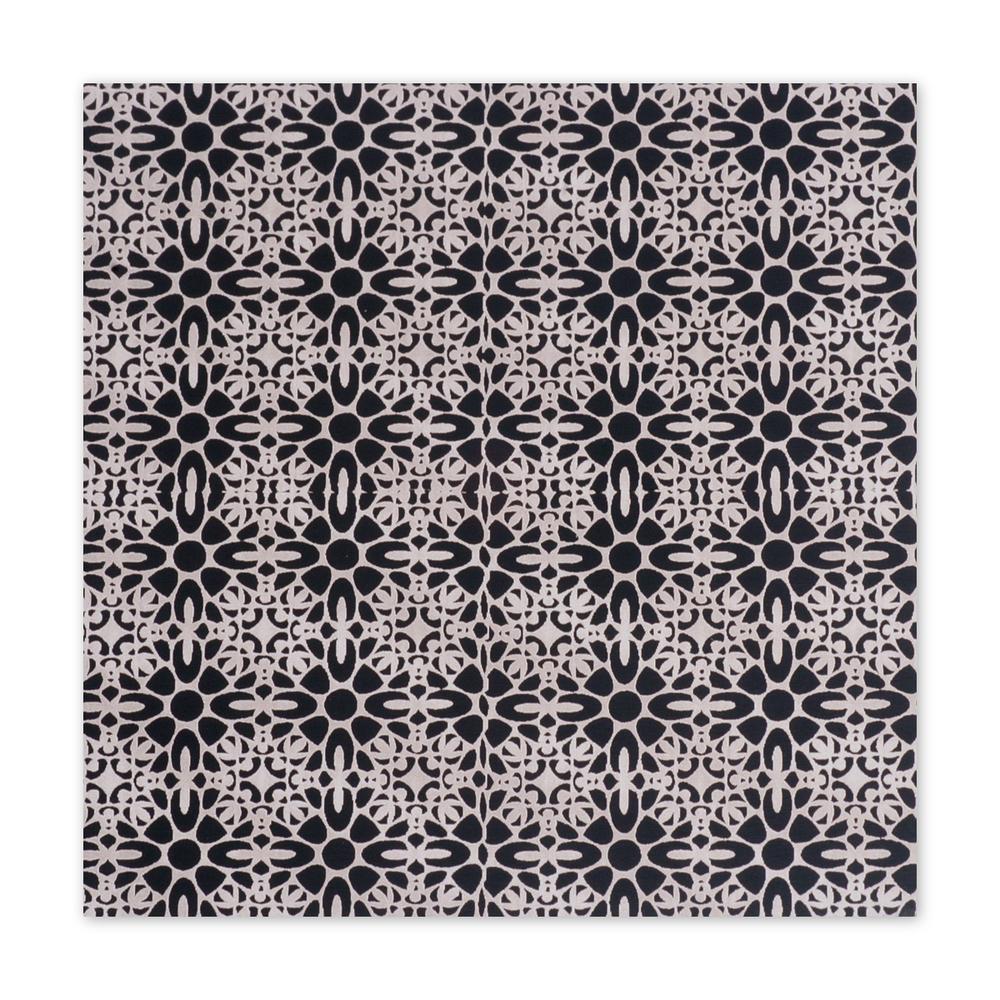 "Anodized Aluminum Sheet, 3"" X 3"", 22g, Design U - BLACK"