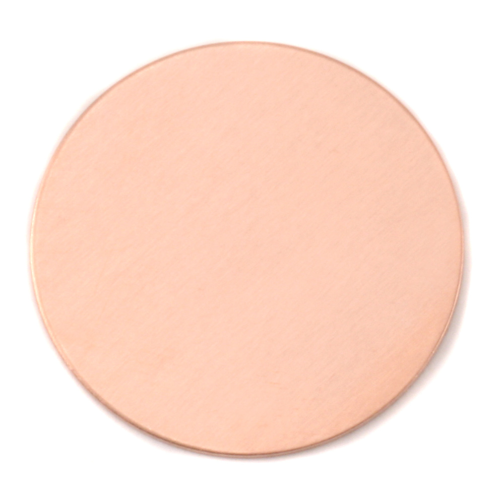 "Metal Stamping Blanks Copper Round, Disc, Circle, 38mm (1.50""), 24g, Pk of 5"