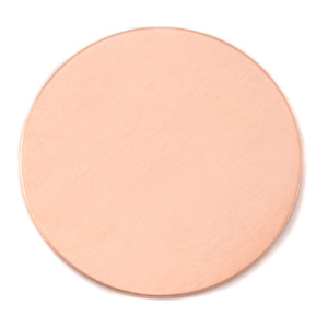 "Metal Stamping Blanks Copper Circle, 1 1/2"" (38mm), 24g"