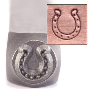 Metal Stamping Tools ImpressArt Dotty Horseshoe Design Stamp, 5.5mm