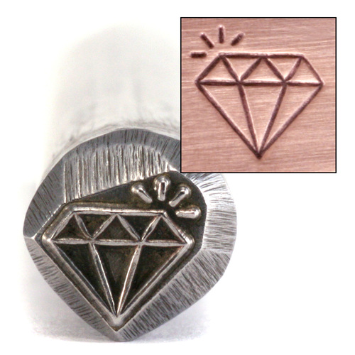 Metal Stamping Tools Large Sparkling Diamond Stamp (6.5mm)-Beaducation Original