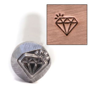 Metal Stamping Tools Sparkling Diamond Design Stamp (4.5mm) - Beaducation Original