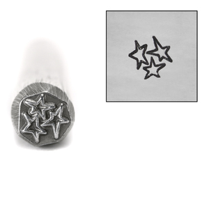 Metal Stamping Tools Three Asymmetrical Stars Design Stamp, 7mm