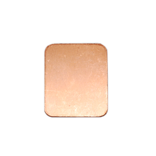 "Metal Stamping Blanks Copper Rounded Rectangle, 25mm (.98"") x 19mm (.75""), 18g, Pk of 5"