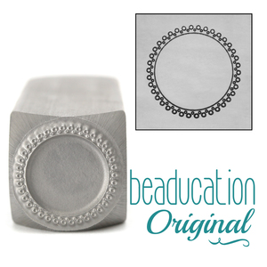 Metal Stamping Tools 2 Rows of Open Dots Circle Border Metal Design Stamp-Beaducation Original