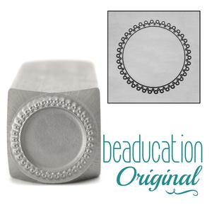 Metal Stamping Tools 2 Rows of Open Dots Circle Border Metal Design Stamp-Beaducation Original