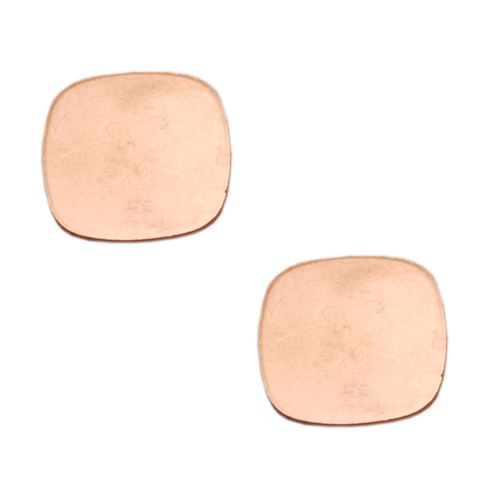 Metal Stamping Blanks Copper Rounded Square, 18g