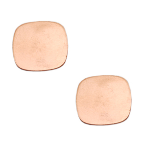 "Metal Stamping Blanks Copper Rounded Square, 21mm (.83""), 18g"