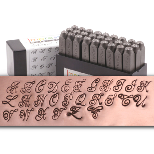 Metal Stamping Tools ImpressArt Royal Crest Uppercase Letter Set - 6mm